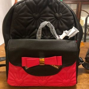 NWT Betsey Johnson Backpack and Purse
